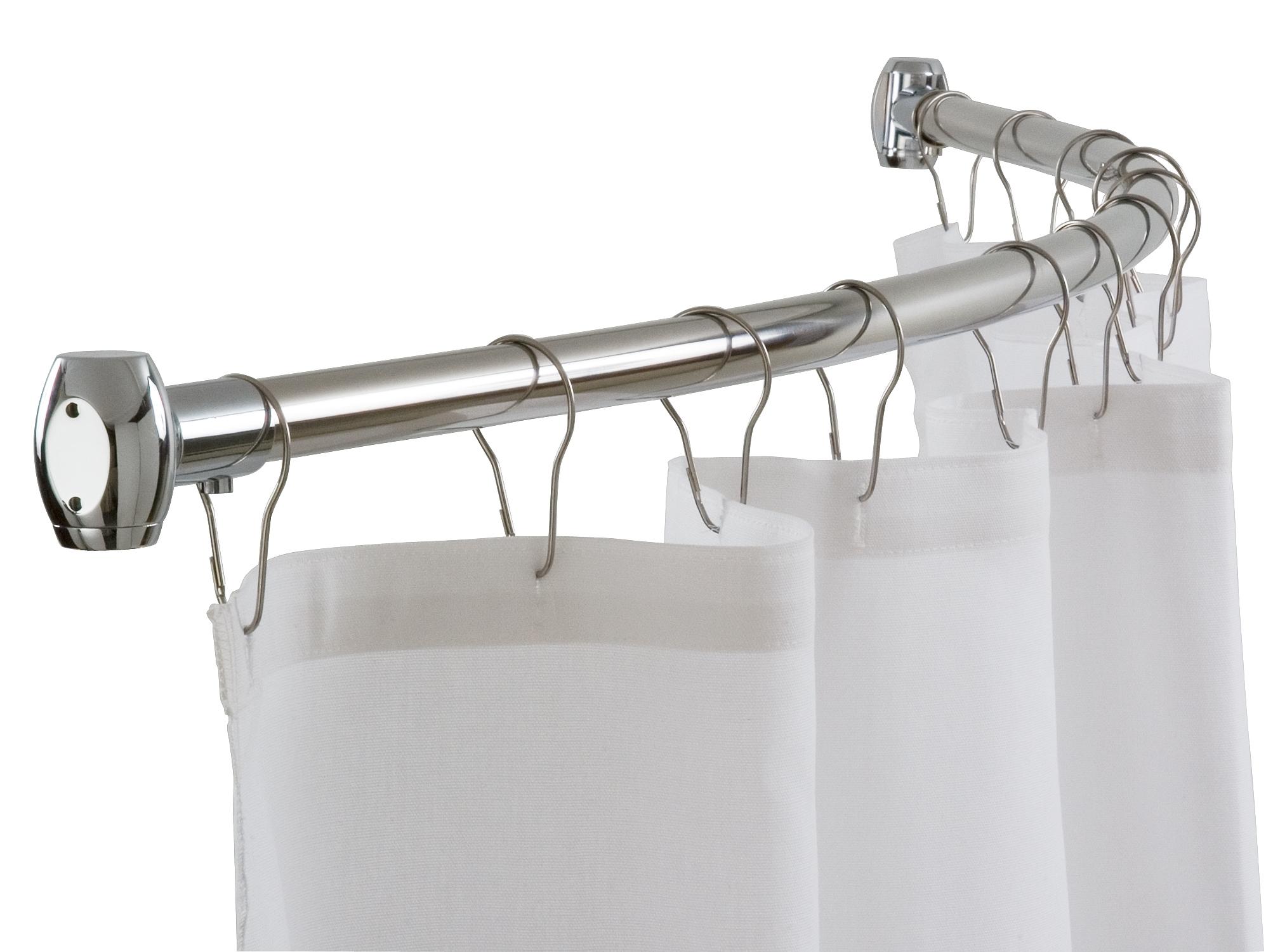 bradley 9530 6078 curved shower rod 60 high polish finish