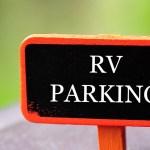 rv parking sign
