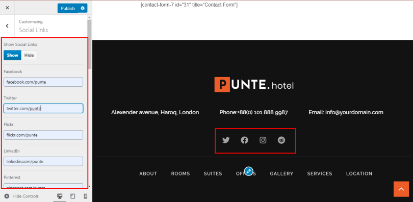 How to Create Hotel Website using Punte Hotel
