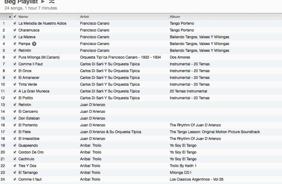 beginners playlist screenshot