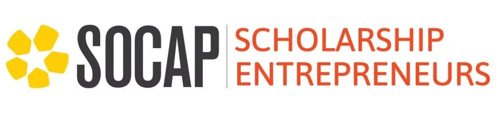 Image shows logo for SOCAP Scholarship Entrepreneur