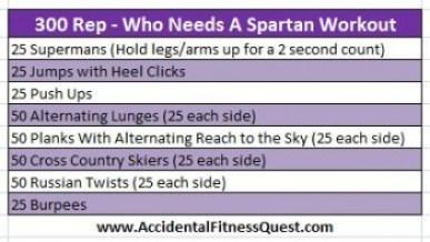 300 Rep Who Needs A Spartan Workout