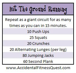 Hit The Ground Running Workout