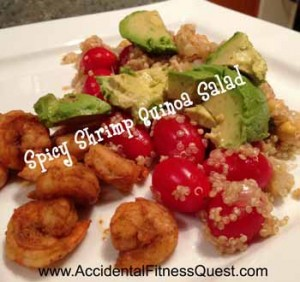 Spicy Shrimp Quinoa Salad