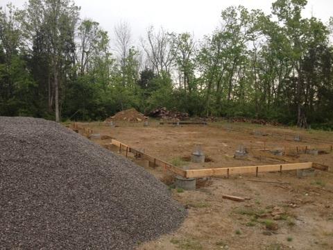 Gravel for foundation