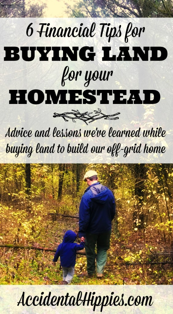 If you're dreaming of one day buying a piece of land to build a house or start a homestead, there is some important financial information you NEED to know before you take the leap from DREAMING to DOING. Don't jeopardize your homestead success because of money -- start off on the right financial foot! #homesteading #smartmoney