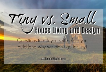 Tiny houses are appealing but are they right for you? Here are 5 things to consider if you want to build tiny, plus our reasons for NOT going tiny.