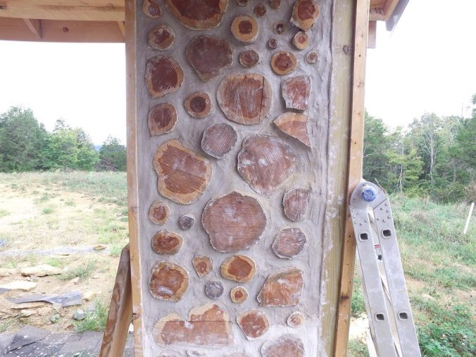 A completed cordwood panel - accidentalhippies.com