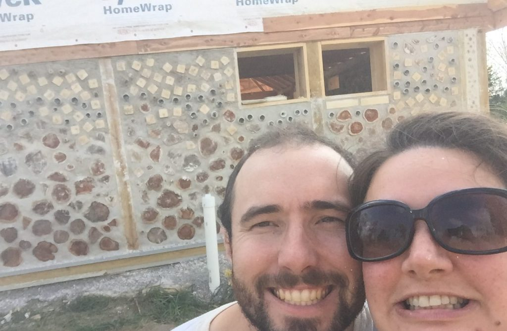 We just finished our last cordwood wall! Check out the progress!