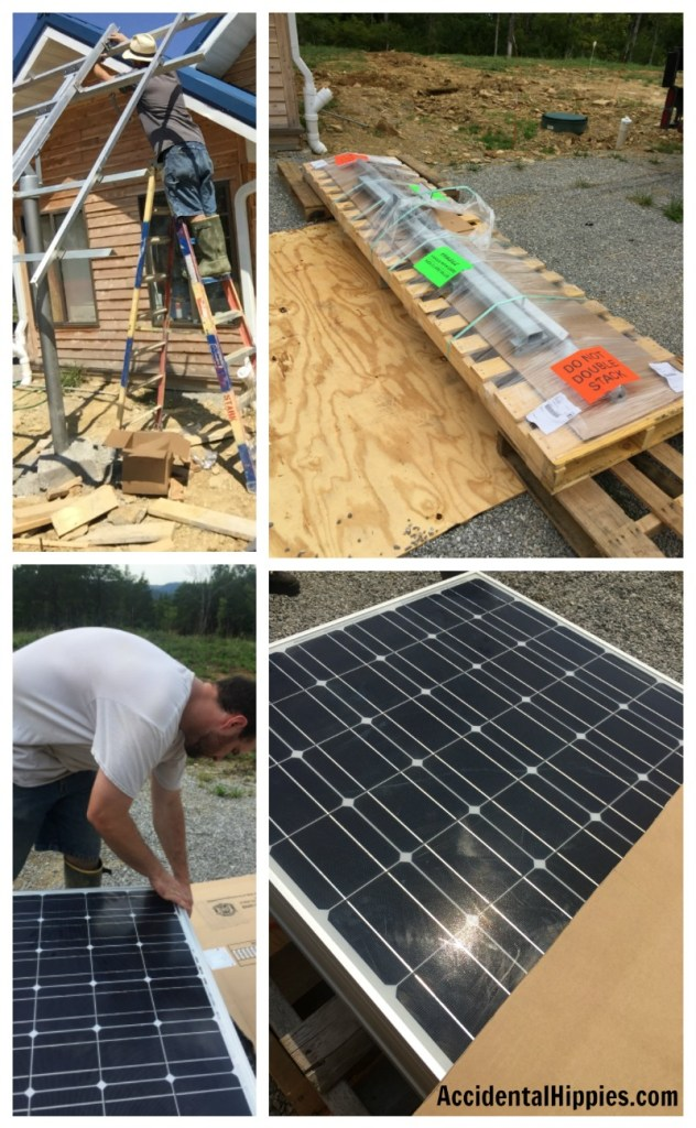 The off grid solar components have arrived! Learn about this and other parts of our off-grid building project. #offgrid #solarpower