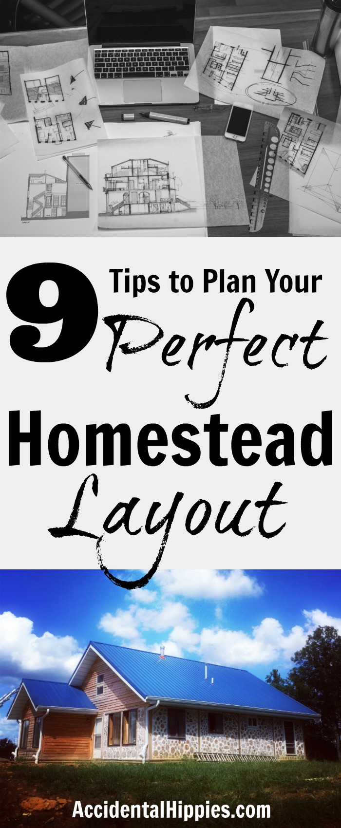 Use these 9 tips to plan your homestead from scratch #homestead #homedesign