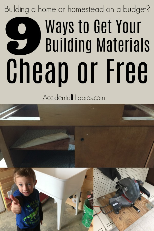 9 ways to get building materials cheap or free for What is the cheapest way to build a house