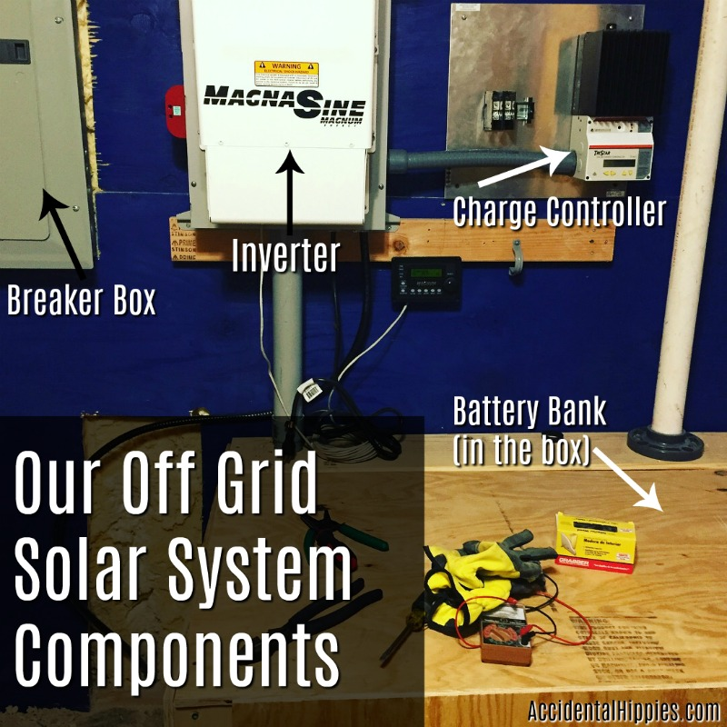 Our solar components for our off grid home. More information on our system can be found here.