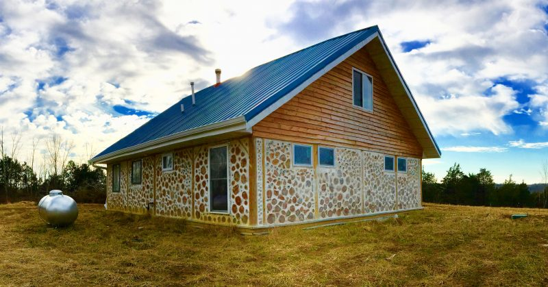 Our cordwood house. Learn more at accidentalhippies.com