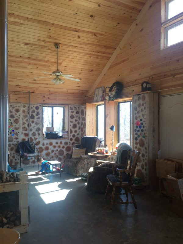 Our cordwood house uses some passive solar principles in its design. How well does it help us keep warm and save power off the grid during the winter?