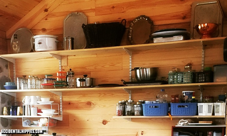 How to Build Cheap Open Kitchen Shelves