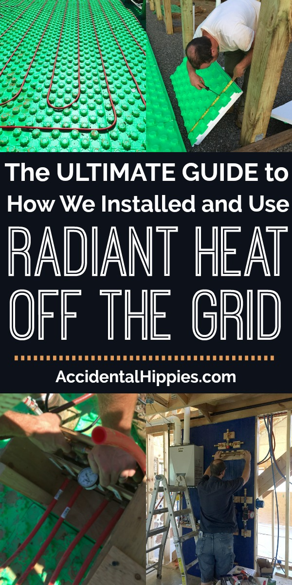 We installed our own custom radiant heating system in our off-grid cordwood house. After two winters using it, here's everything we learned. From installation advice to how it actually performs, here's what you should learn before you install your own. #radiantheat #diyprojects #buildahouse