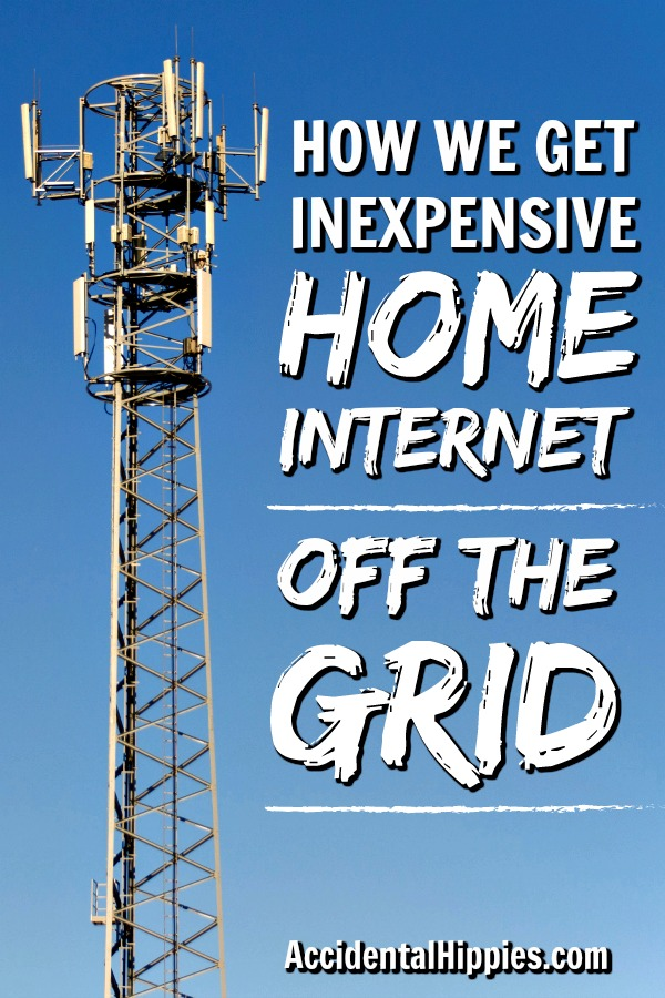 A cell tower, the main way we get internet off the grid