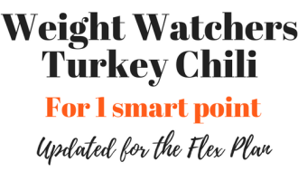 Weight watchers turkey chili