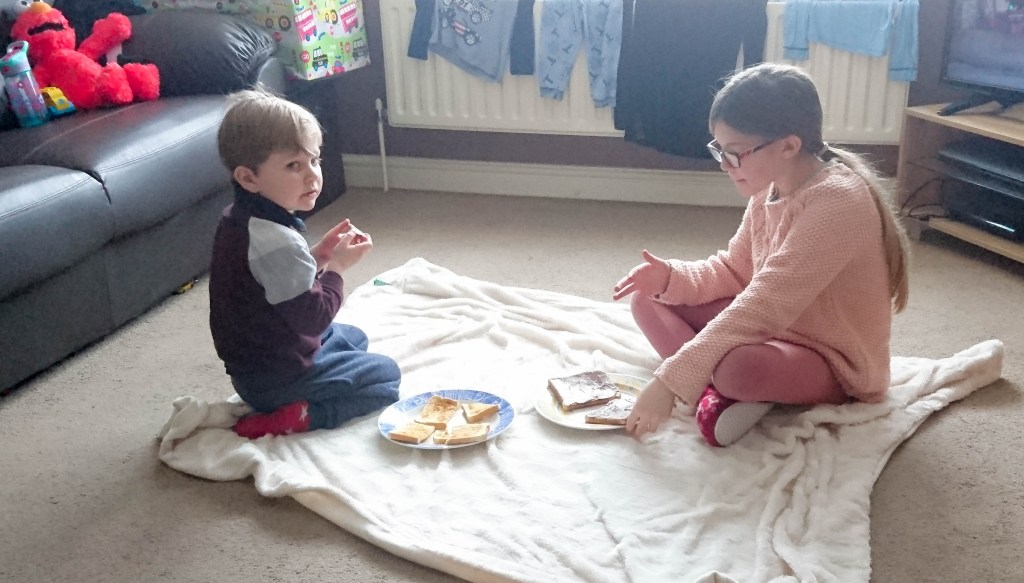 snow day indoor picnic