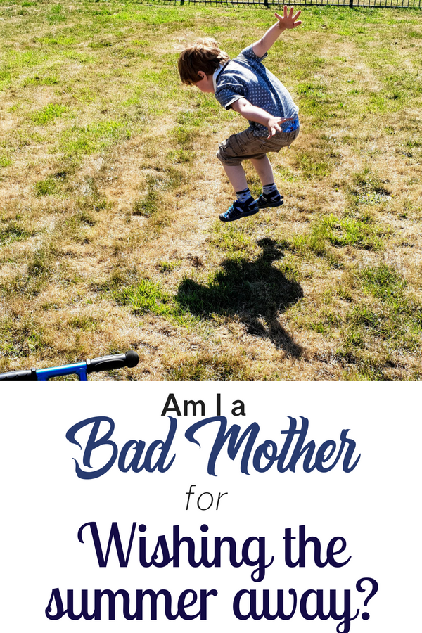 Am I a bad mother for wishing the summer away? The break from school is long and arduous. Am I the only one who find parenting hard? Summer holiday entertainment can be hard to arrange if you don't have much money and when you don't have plans, the tantrums start. Surely I'm not the only one struggling? Click to read more