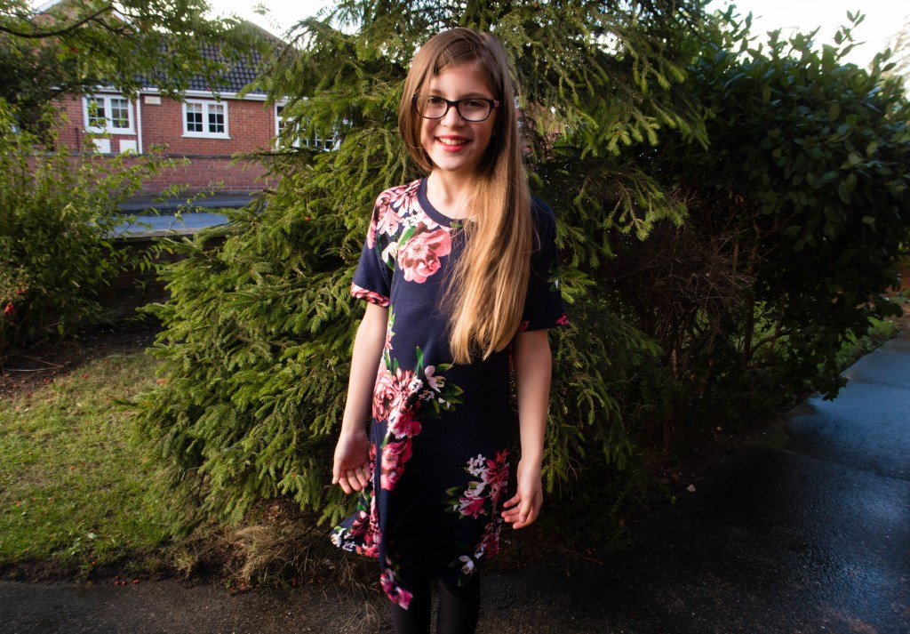 my daughte modelling her new floral dress