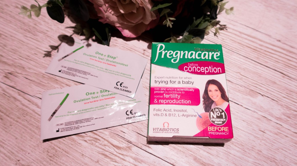 Trying to Conceive is Harder Than You Think TTC ovulation strips and pregnacare vitamins