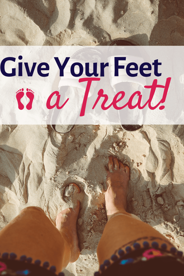 For gorgeous feet follow these 4 simple tips to follow. Give your feet a treat! #pedicure #footcare #feet