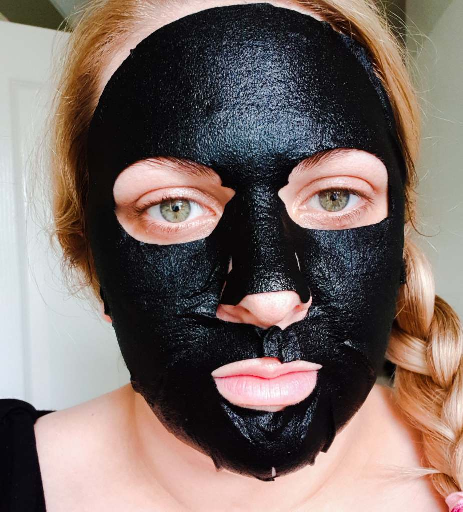 Black therapy mask time