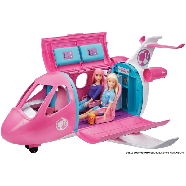 Barbie plane with Barbies in it