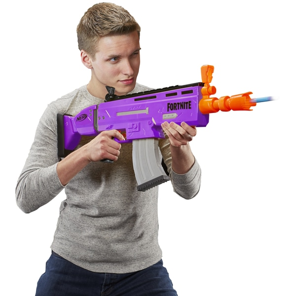 NERF Fortnight AR-E being played with by teen boy