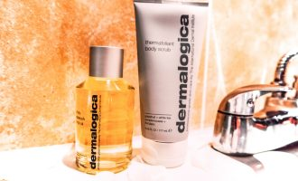 Dermalogica body duo thermafoliant and body oil.