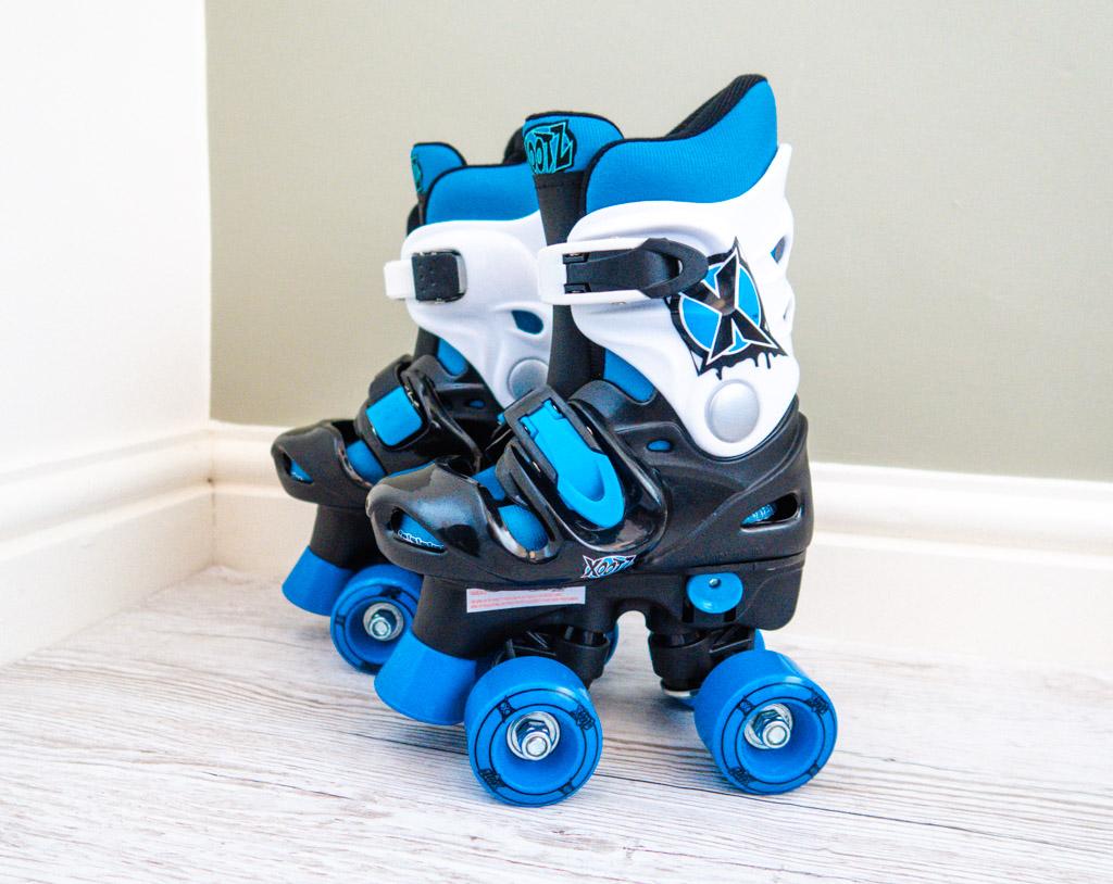 Xootz Blue Adjustable Quad Roller Skates