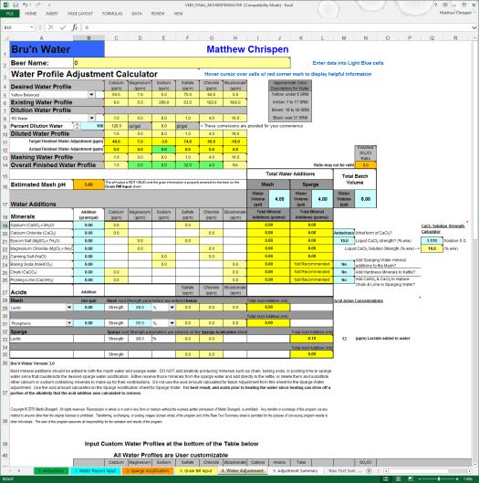 BWS 3.0 Water Adjustment