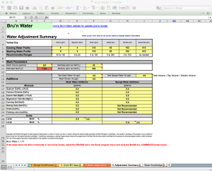 Bru'n Water Free Spreadsheet v 1.17a Adjustment Summary Tab