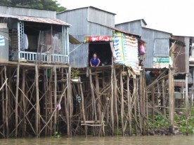 Stilts to keep the house above water in the monsoon season!