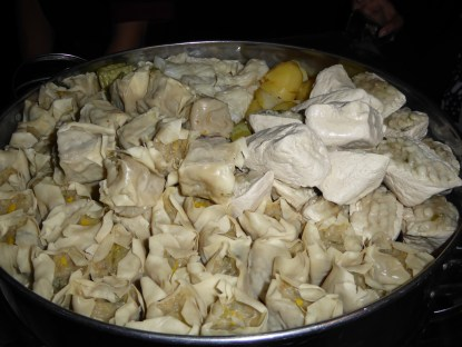 Bandung speciality, steamed snack parcels