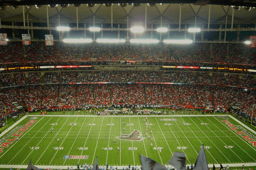 Football atlanta falcons vs philadelphia eagle at georgia dome. Photo Credi yk yk yk via Wikimedia Commons