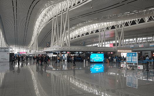 China_aviation_Changsha_Huanghua_Airport_T2_Departure_hall_