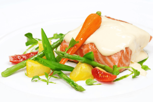image-of-poached-salmon-at-Thailand-bangkok-cafe