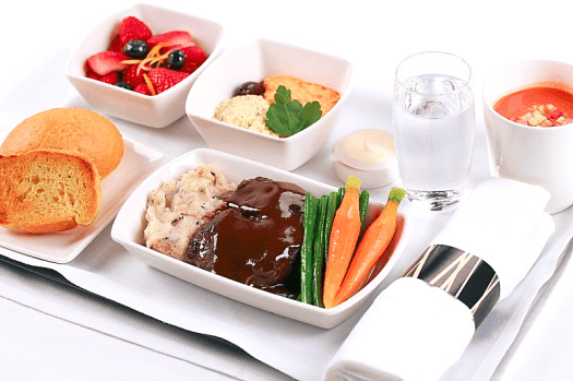 image-of-inflight-business-class-meal-Cathay-Pacific-Airways.