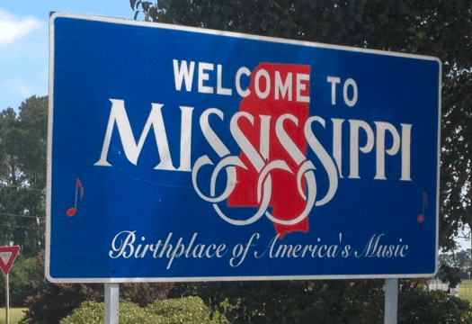 United-state-welcome-to-mississippi-sign