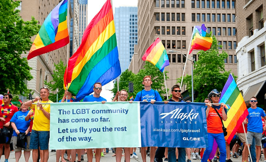 image-of-alaska-airlines-lgbt-employees-marching-in-pride-parade