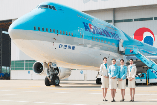 Korean Air  Boeing 747-8 at Seoul Incheon International Airport.