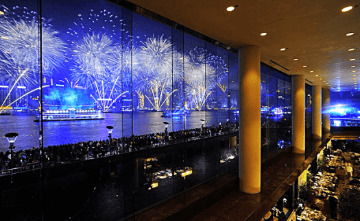 Fireworks from intercontinental hong kong