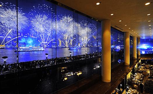 Fireworks from intercontinental hong kong
