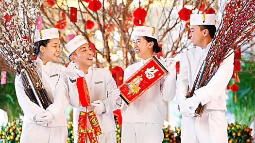 Peninsula Hong Kong pageboys celebrate Chinese New Year