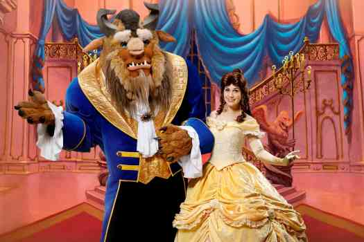 "Hong Kong Disneyland Belle and Beast from ""Beauty and the Beast"""