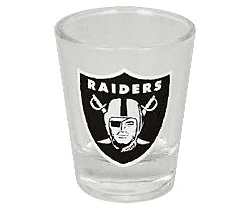 Raiders shot glass
