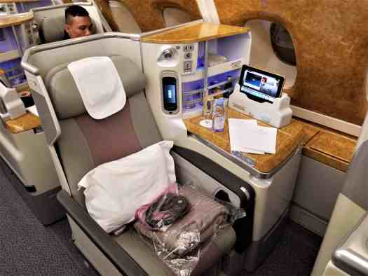 Flight Review Emirates Airline Airbus A380 800 Hong Kong Bangkok Business Class Accidental Travel Writer
